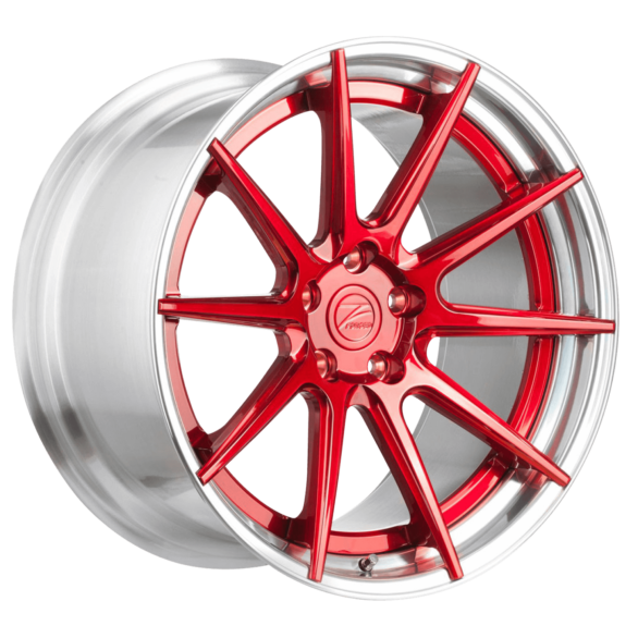 ZP.FORGED 1 Super Deep Concave Candy Red Polished Lip - Z-Performance Wheels