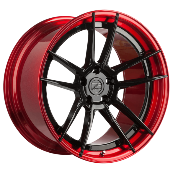 ZP.FORGED 2 Super Deep Concave Gloss Black Red Lip - Z-Performance Wheels