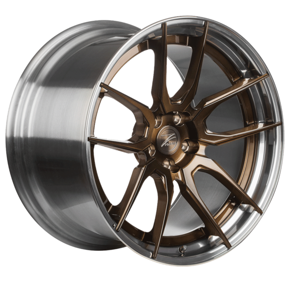 ZP.FORGED 4 Super Deep Concave Brushed Bronze Polished Lip - Z-Performance Wheels