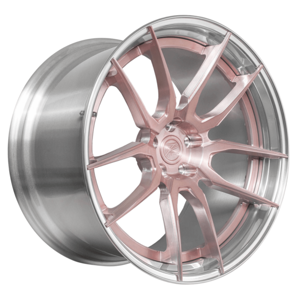 ZP.FORGED 4 Super Deep Concave Rose Gold Polished Lip - Z-Performance Wheels