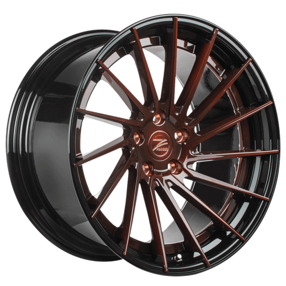 ZP.FORGED 6 Deep Concave Brushed Chocolate GB Lip - Z-Performance Wheels
