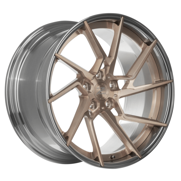 ZP.FORGED 10 Deep Concave in Royal Gold Polished Lip - Z-Performance Wheels