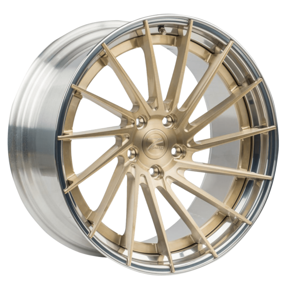 ZP.FORGED 6 Deep Concave Royal Gold Polished Lip - Z-Performance Wheels
