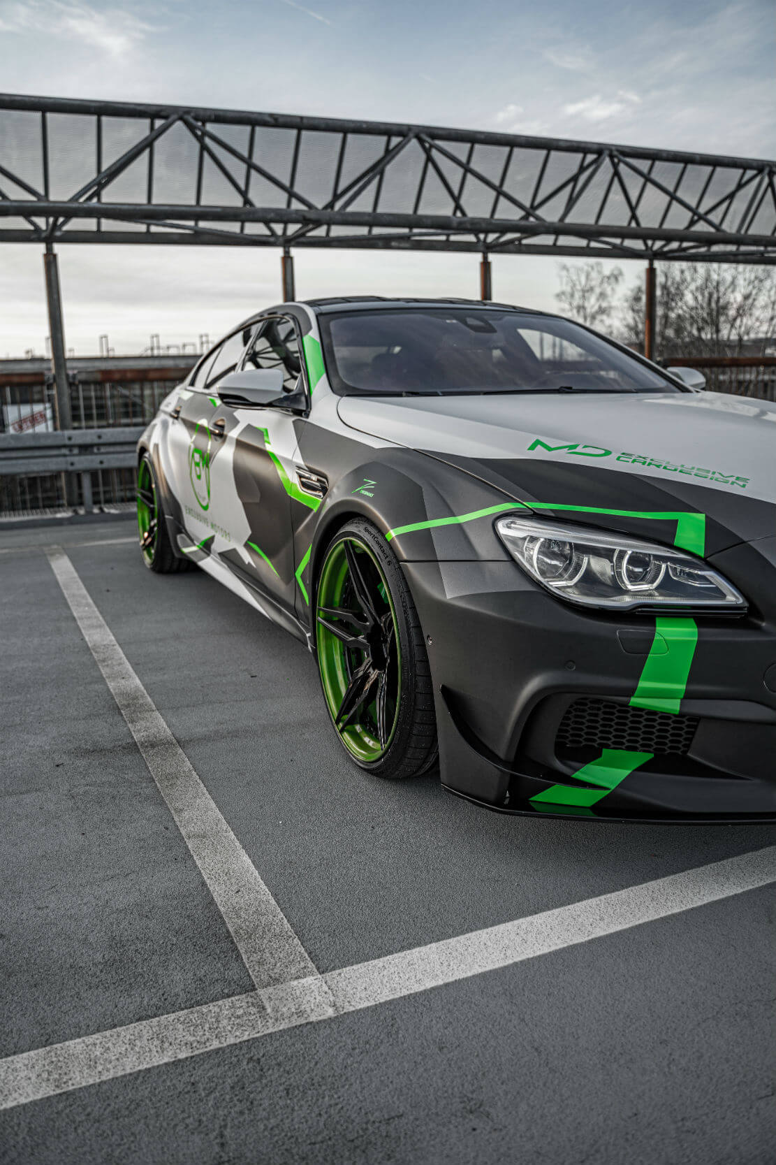Bmw M6 F06 Gran Coupe Alloy Wheels Z Performance Wheels Zp Forged 21 Custom Gloss Black Custom Lime Green Lip In 10x21 11 5x21 M D Exclusive Cardesign