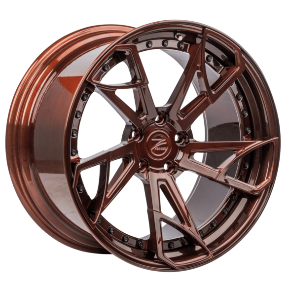 ZP.FORGED 14 Deep Concave Brushed Chocolate Brushed Chocolate Lip - Z-Performance Wheels