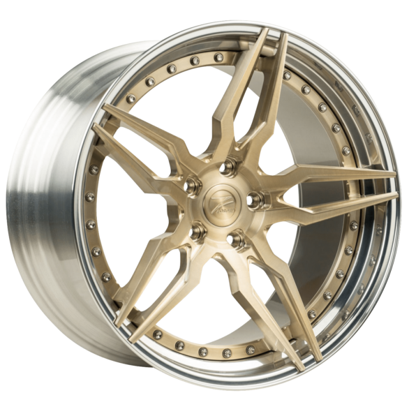 ZP.FORGED 21 Royal Gold Center Polished Lip - Z-Performance Wheels