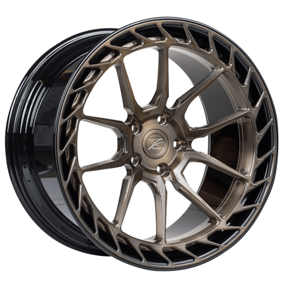 ZP.FORGED 22 Deep Concave Brushed Bronze Gloss Black Lip - Z-Performance Wheels