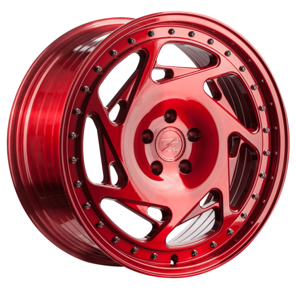 ZP5.1 Deep Concave Brushed Candy Red - Z-Performance Wheels